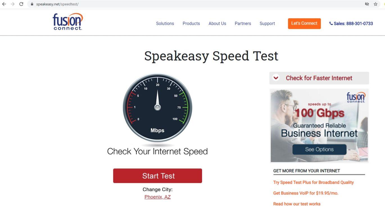 Speakeasy.net Speed Test